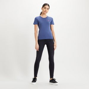 Ribbed Baby Tee Indigo Blue