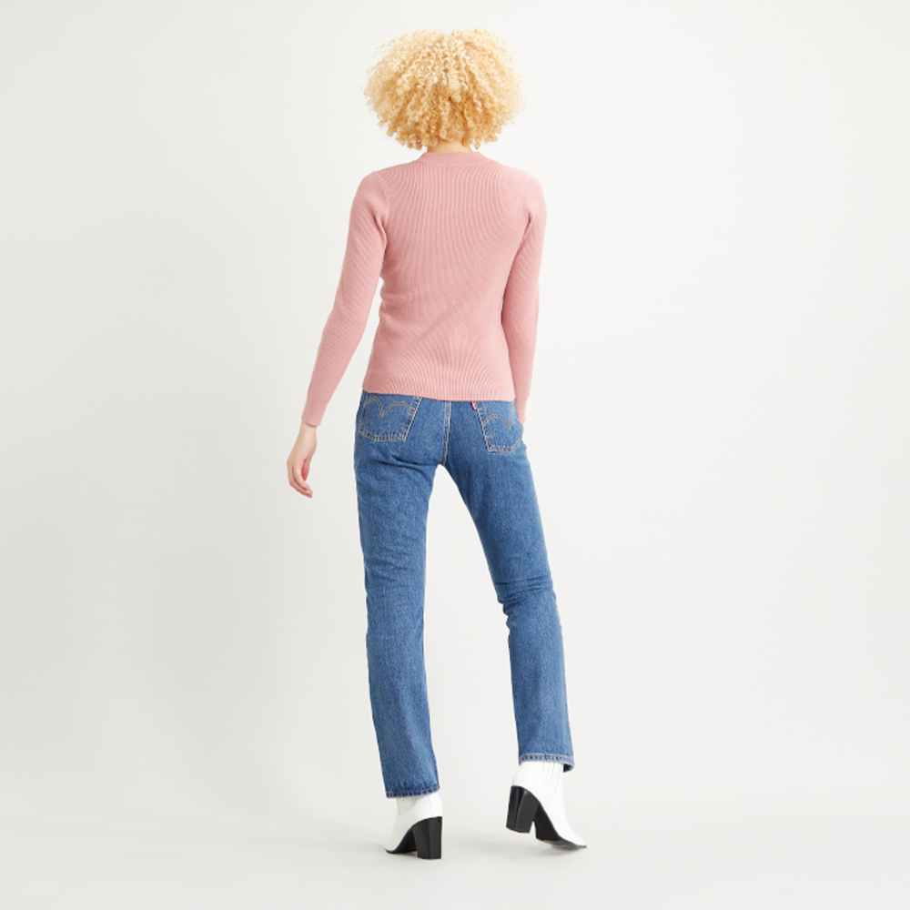 Crew Rib Sweater Blush Pink