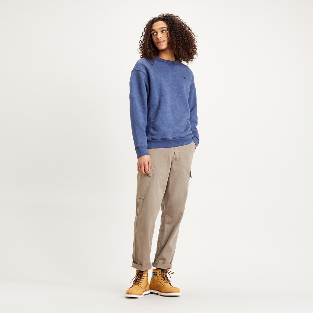 Premium Heavyweight Crew Sweatshirt Blue Indigo