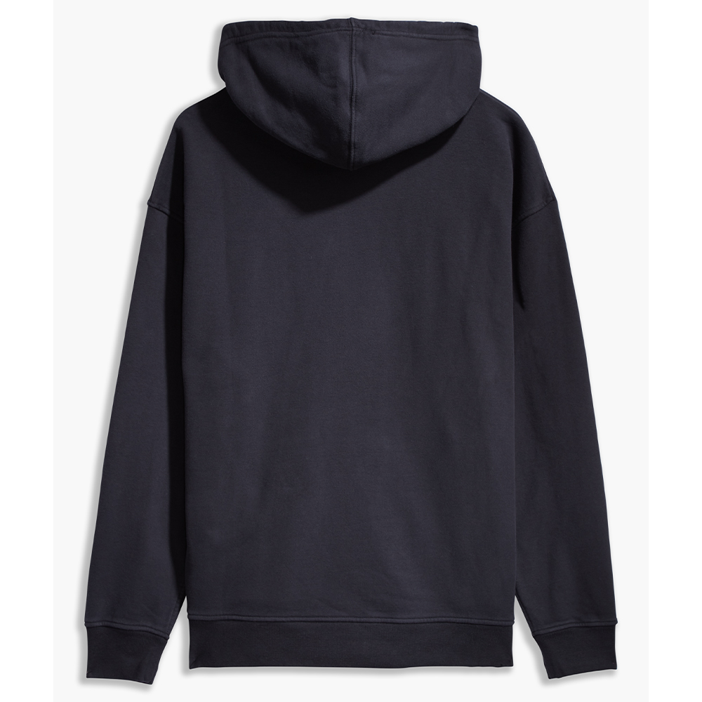 Relaxed Graphic Serif  Hoodie Black