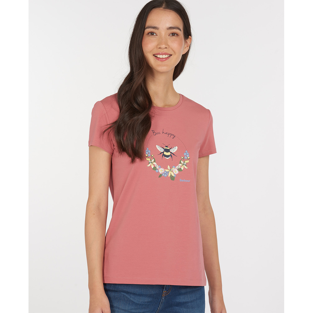Barbour Bowland Tee Dusty Pink Dusty Pink/8