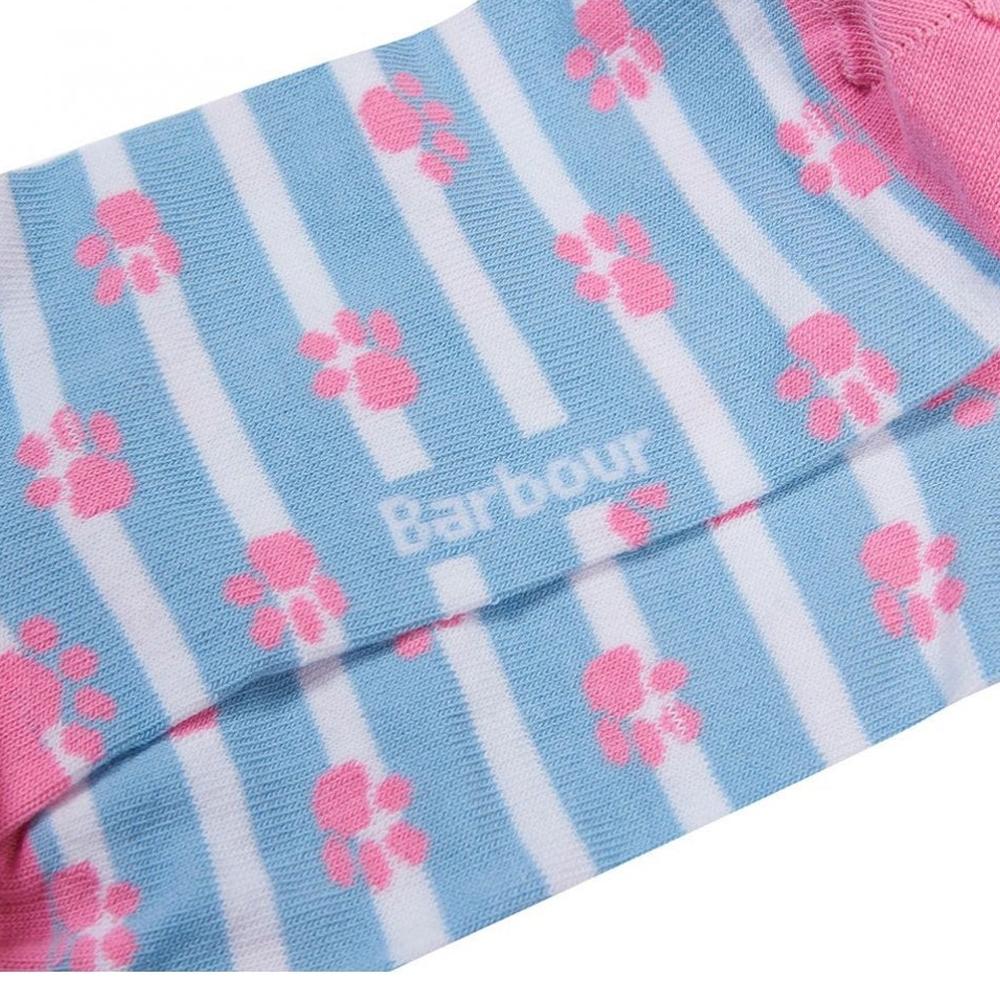Barbour Paw Stripe Sock