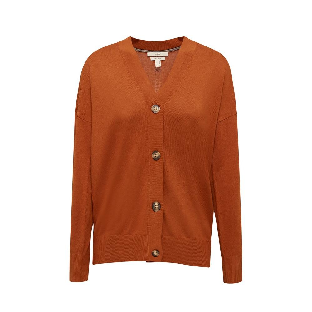 Esprit Linen Blend Fine Knit Cardigan