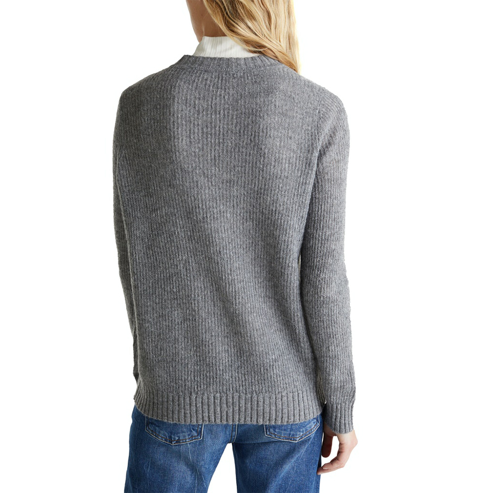 Esprit Pointelle Jumper With Wool
