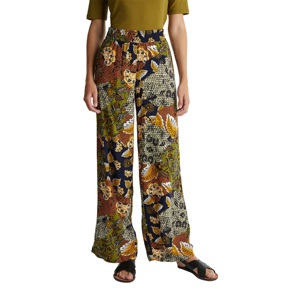 Esprit Wide-Leg Trousers With Print