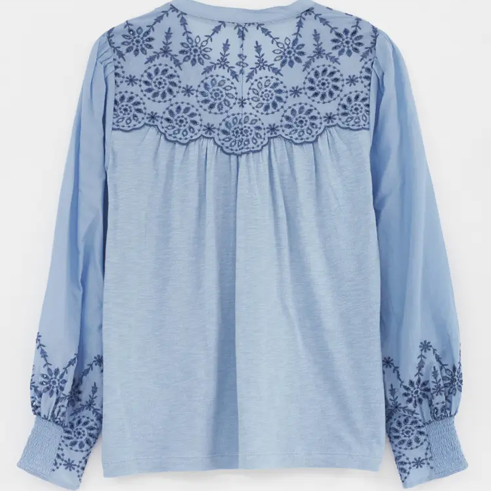White Stuff Broderie Jersey Shirt