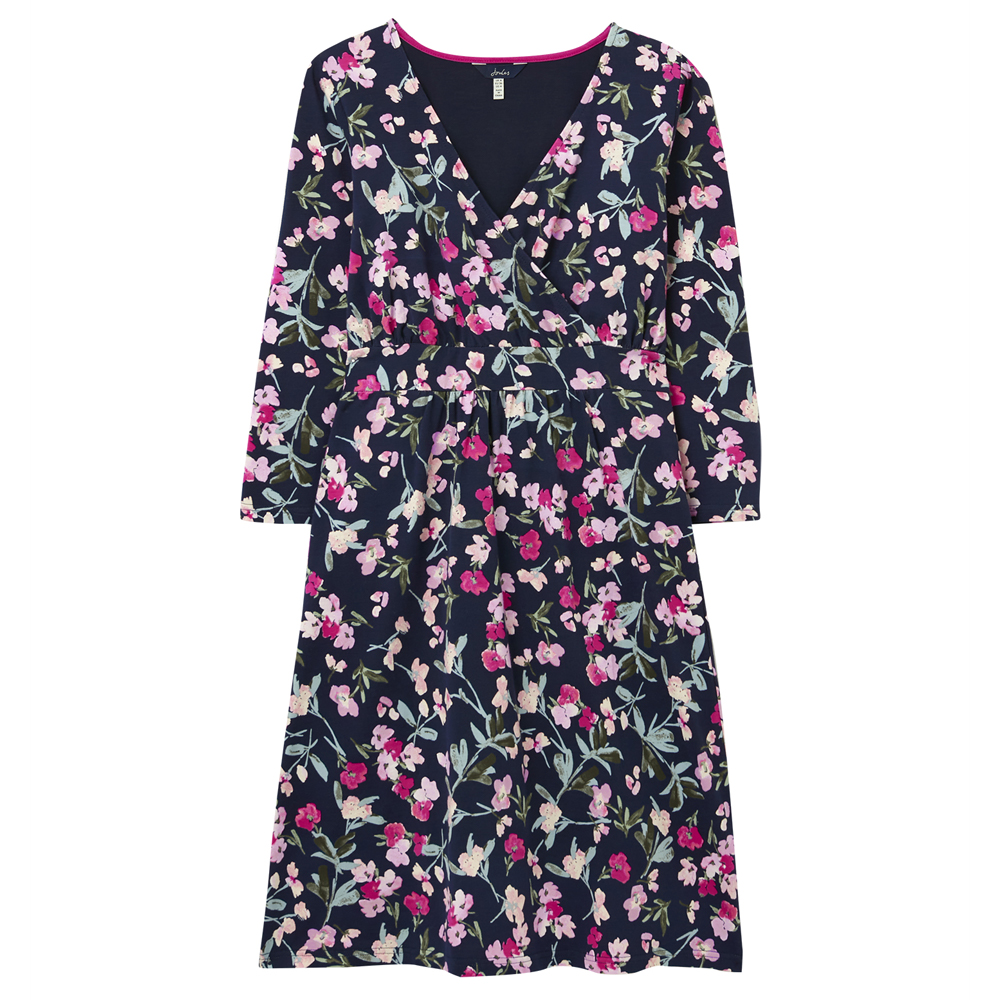 Joules Jude Print Wrap Dress