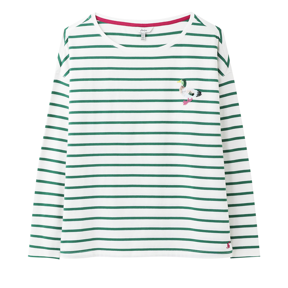 Joules Marina Print Dropped ShoulderJersey Top