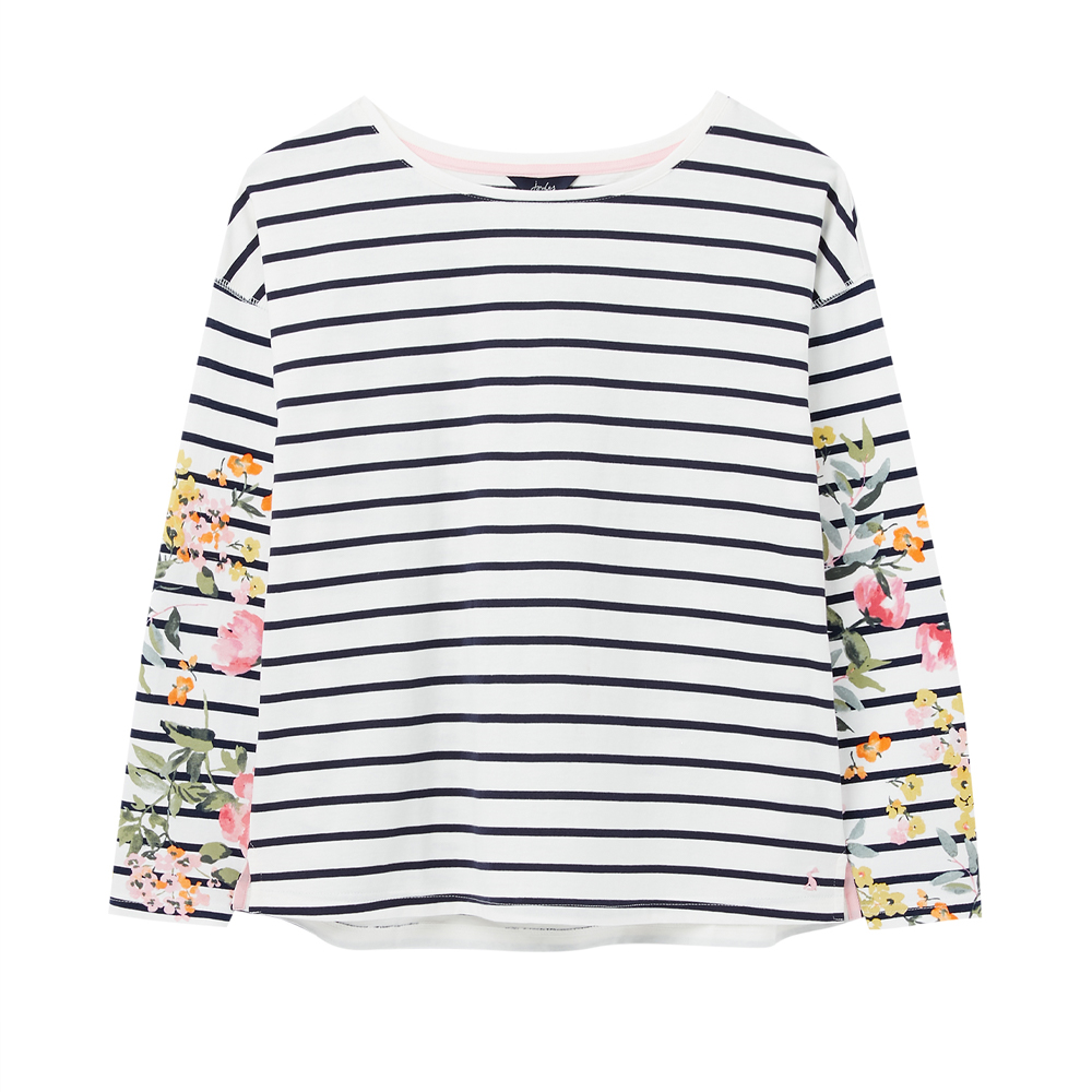 Joules Marina Print Dropped ShoulderJersey Top