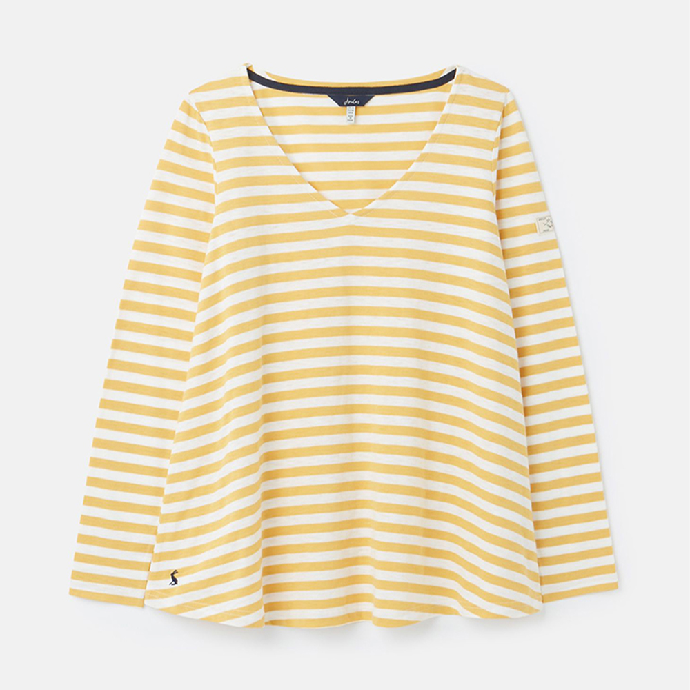 Joules Harbour Lt Swing Lightweight V Neck Jersey Top