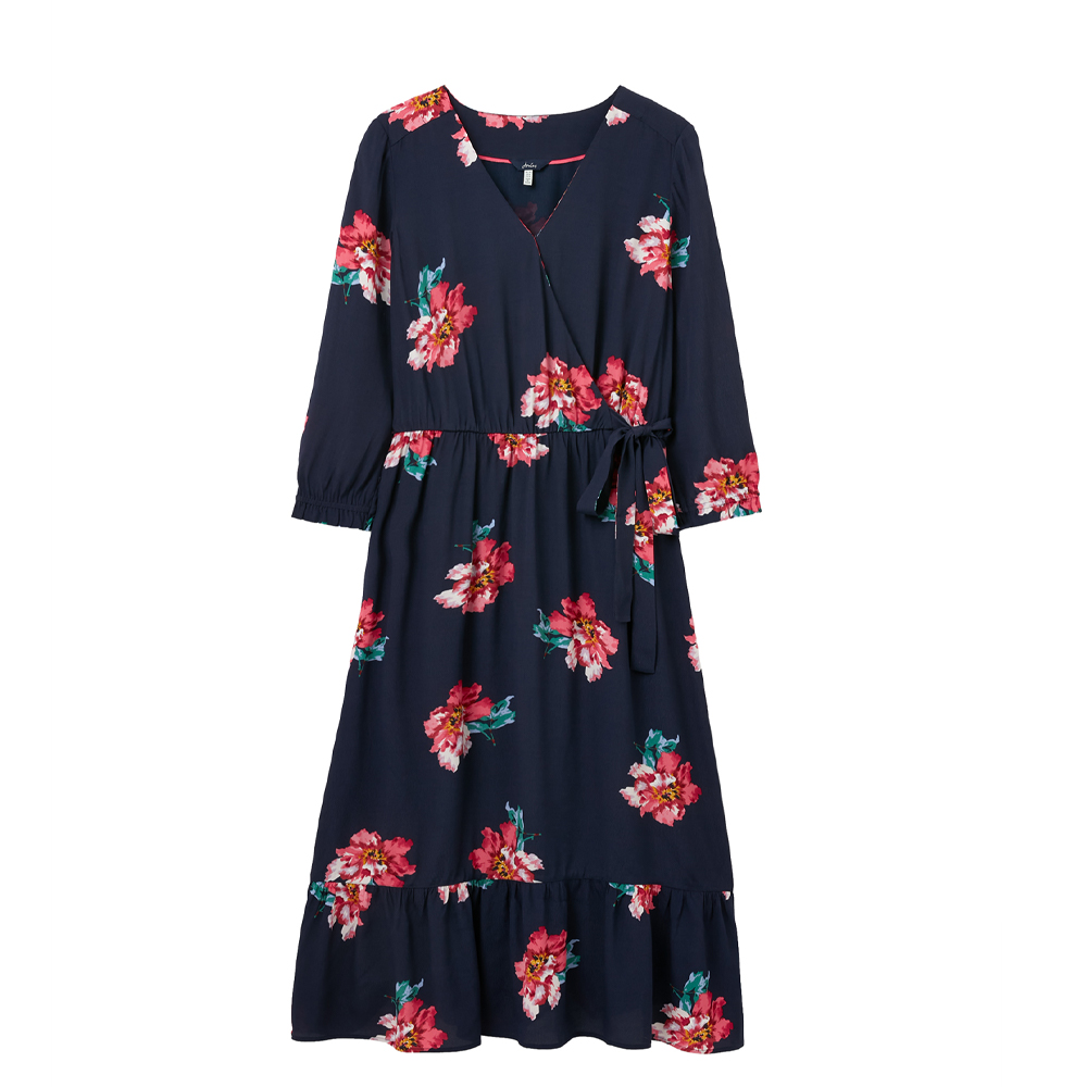 Joules Chloe Fixes Wrap Dress with Split