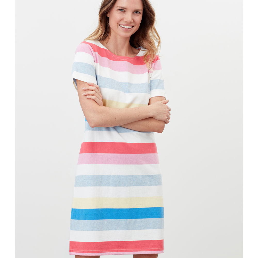 Joules Riviera Printed Short Sleeve Jersey Dress