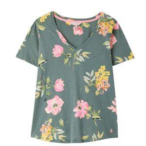 Joules Celina  Print V Neck T-Shirt