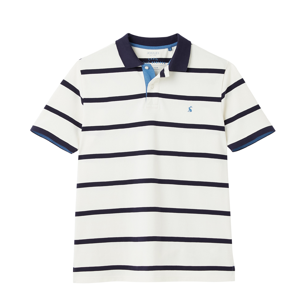 Striped Polo Cream Stripe/MEDIUM
