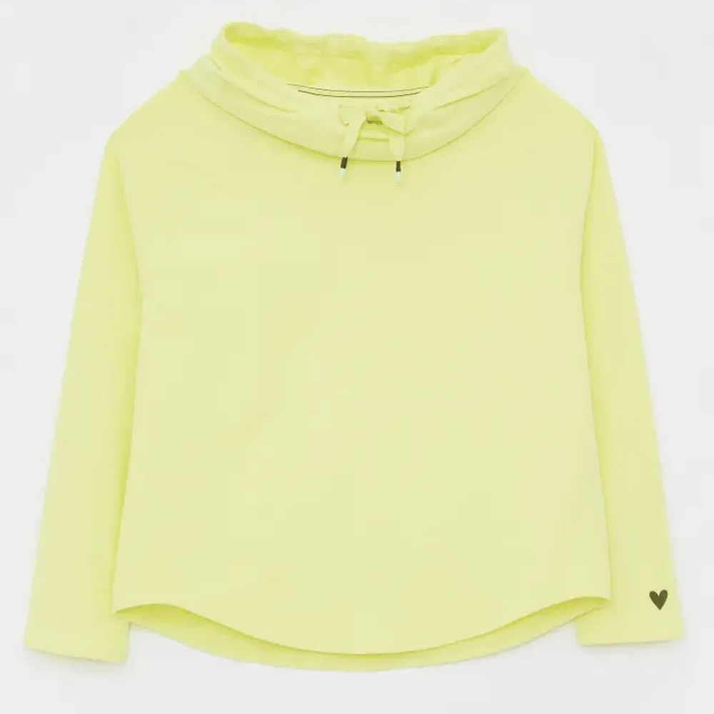 Cowl Neck LS Sweat  Lgt Yellow/10