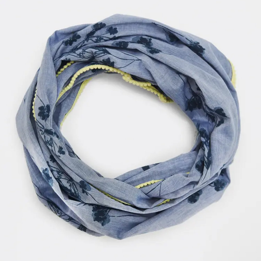 White Stuff Blurred Floral Chambray Snood