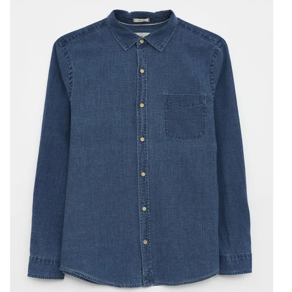 Denim Shirt  Mid Blue/LARGE