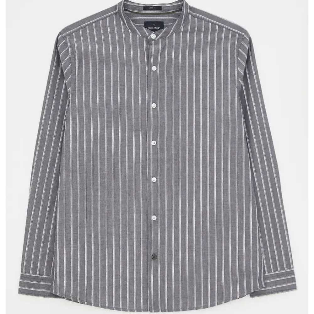White Stuff Grandad Stripe Shirt