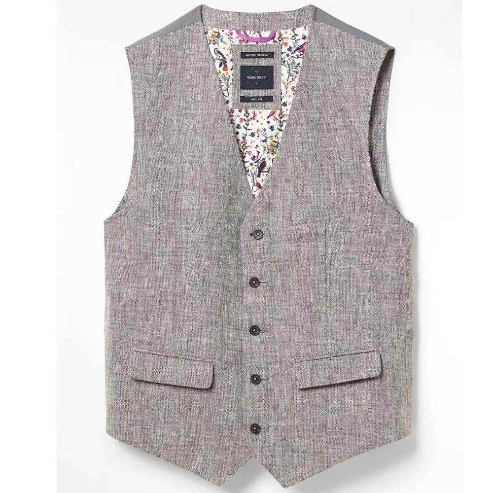 White Stuff Northcote Linen Waistcoat