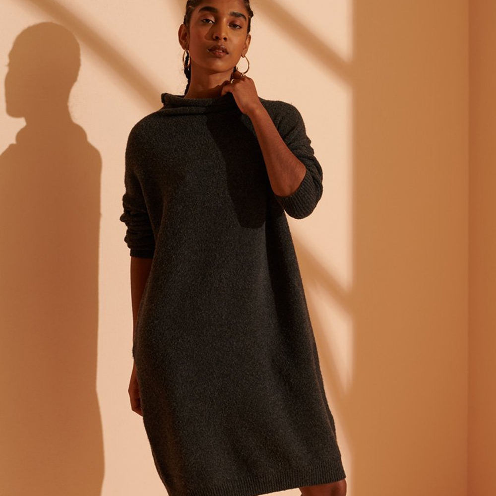 Superdry Isabella Funnel Neck Dress