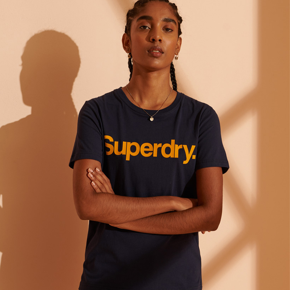 Superdry Core Logo Flock T-Shirt