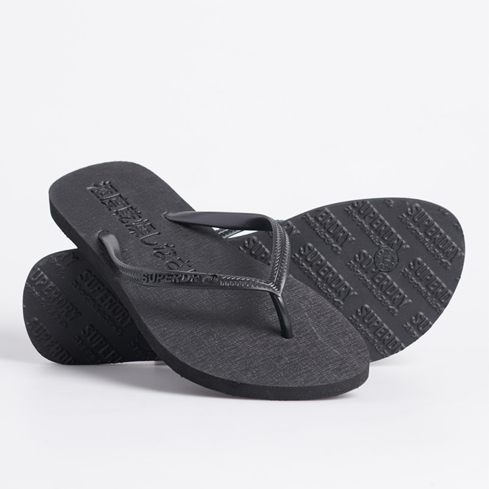 SUPER SLEEK FLURO FLIP FLOP Black/sml