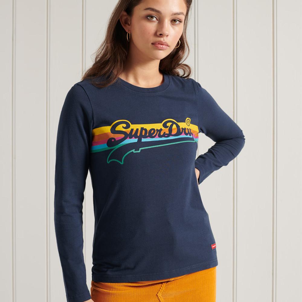 Superdry Vintage Logo Cali Long Sleeve Top