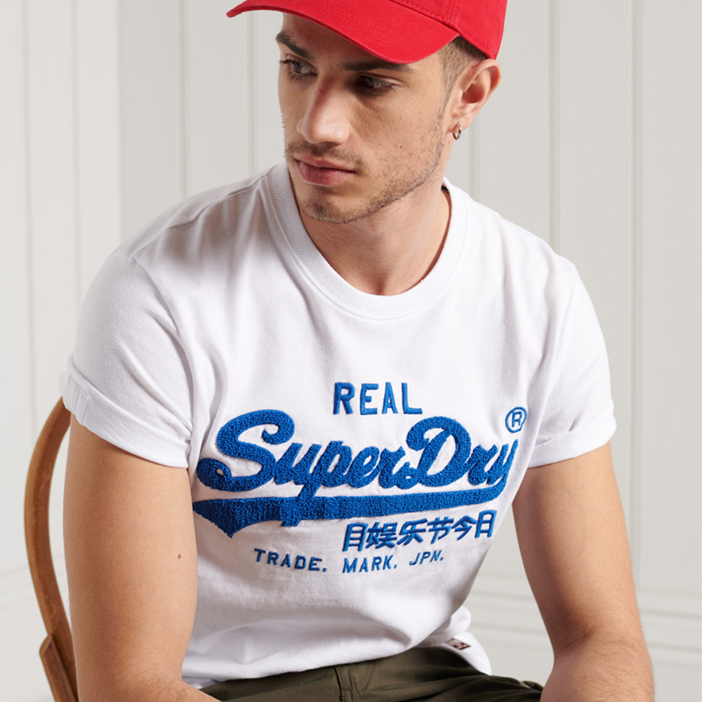 Superdry Vintage Logo Chenille Standard Weight T-Shirt