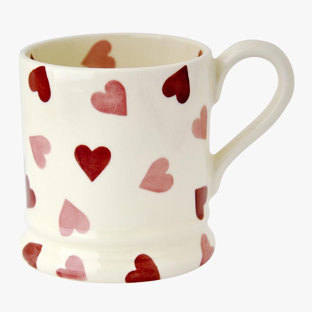Emma Bridgewater Pink Hearts 1/2 Pint Mug