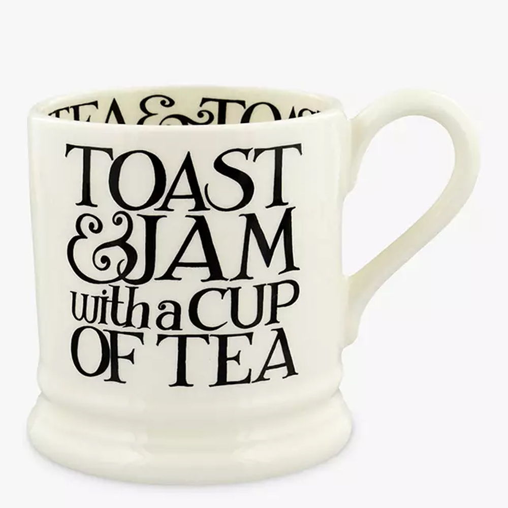 Emma Bridgwater Black Toast Toast & Jam 1/2 Pint Mug