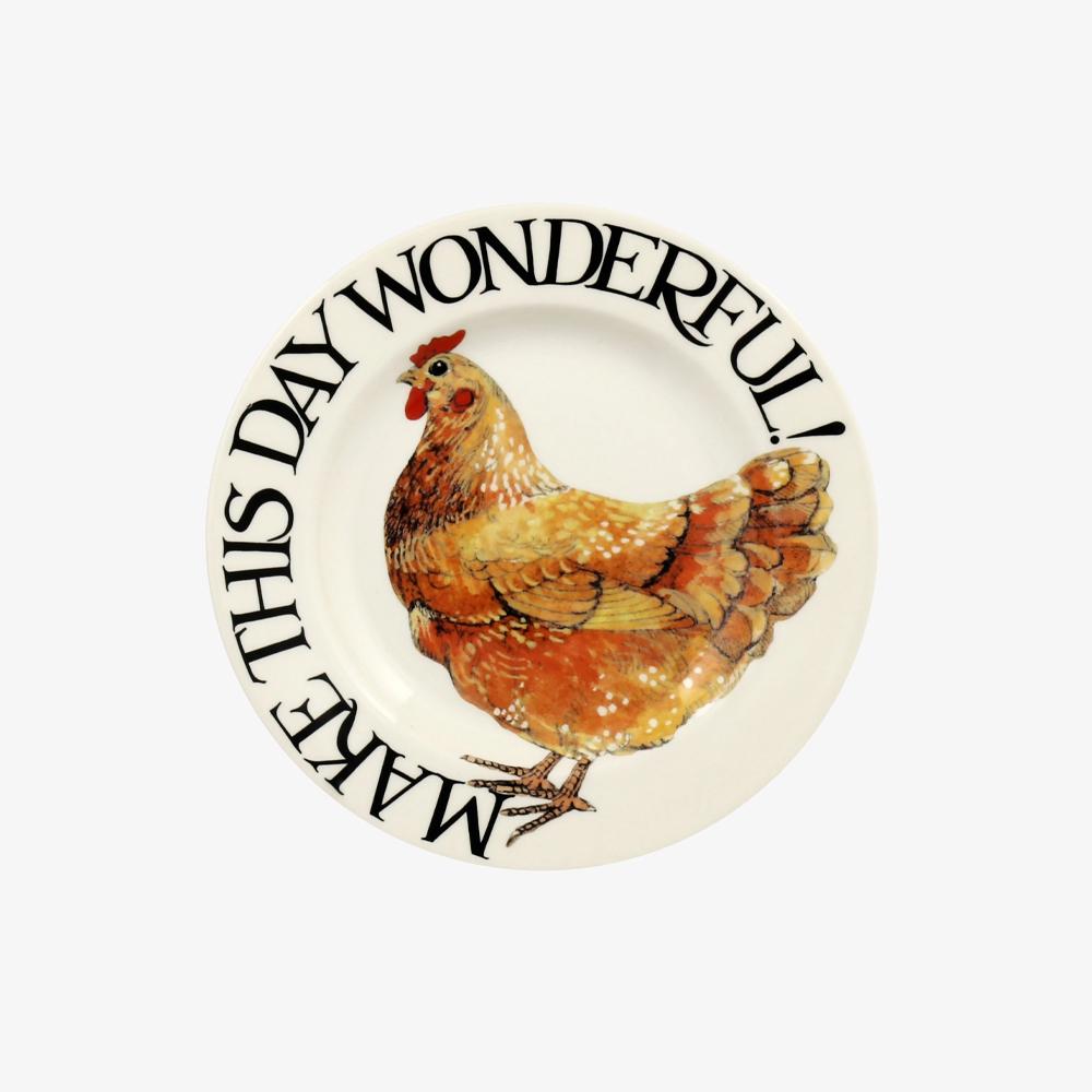 Emma Bridgewater Rise & Shine Make This Day Wonderful 6 1/2 Inch Plate