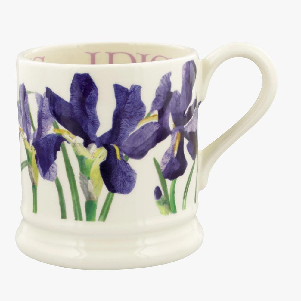 Emma Bridgewater Flowers Blue Iris 1/2 Pint Mug