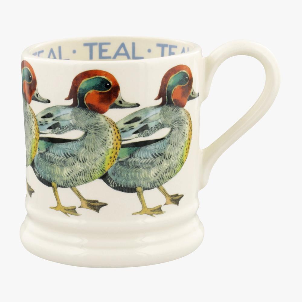 Emma Bridgewater Birds Teal 1/2 Pint Mug
