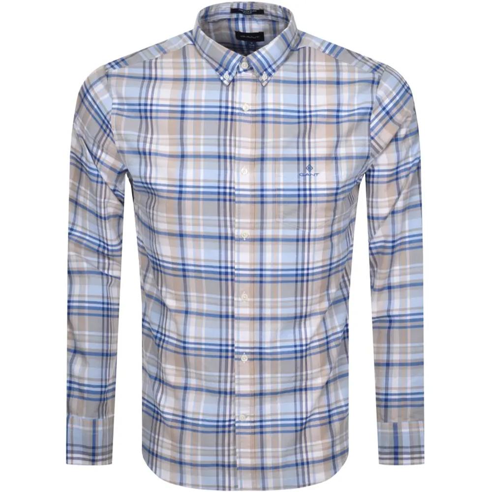 GANT Regular Fit Plaid Oxford Shirt