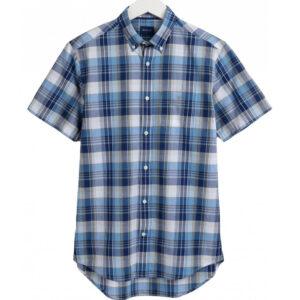 GANT Regular Fit Short Sleeve Indian Madras Shirt