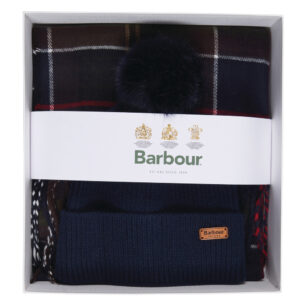 Barbour Dover Beanie & Hailes Scarf Gift Set
