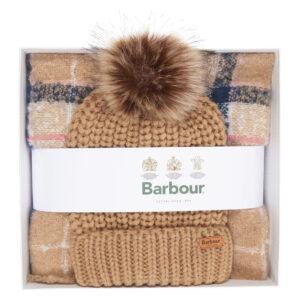 Barbour Saltburn Beanie/Boucle Scarf Gift Set