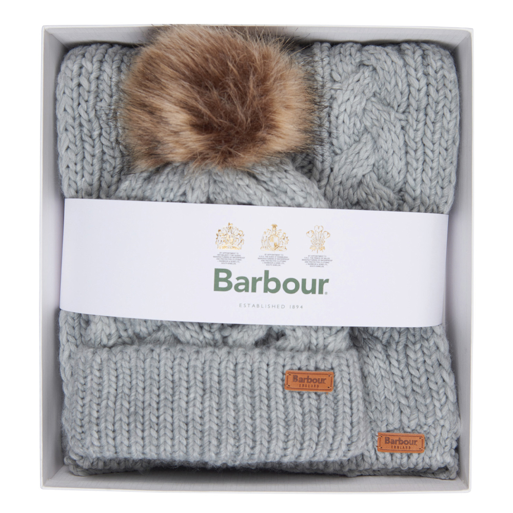 Barbour Penshaw Beanie & Scarf Set
