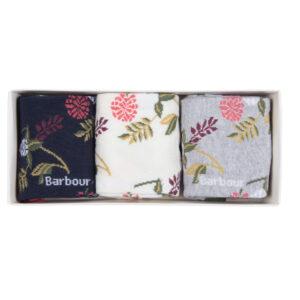 Barbour Floral Fern Sock Gift Set