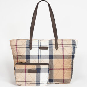 Barbour Wetherham Quilted Tartan Tote