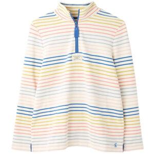 Joules  Pip Casual Half Zip Sweatshirt Cream