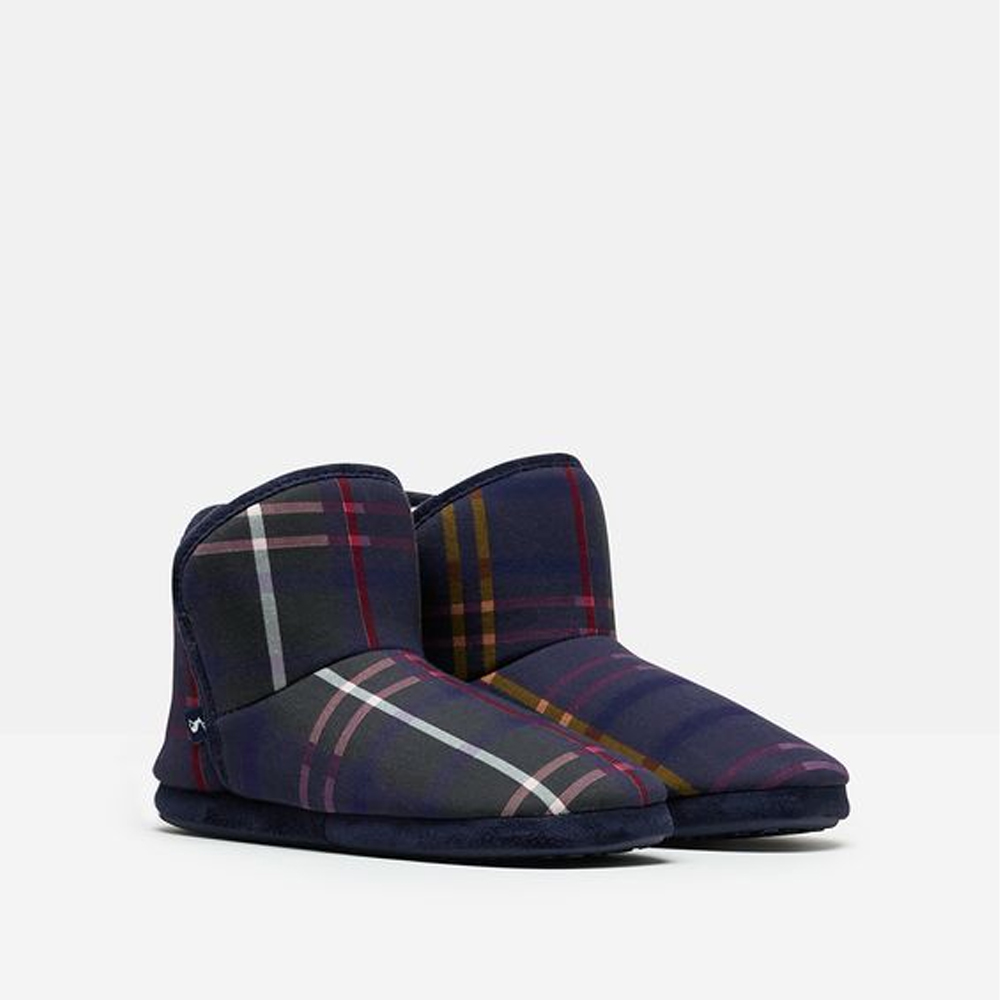 Joules Cabin Faux Fur Lined Slipper With Rubber Sole