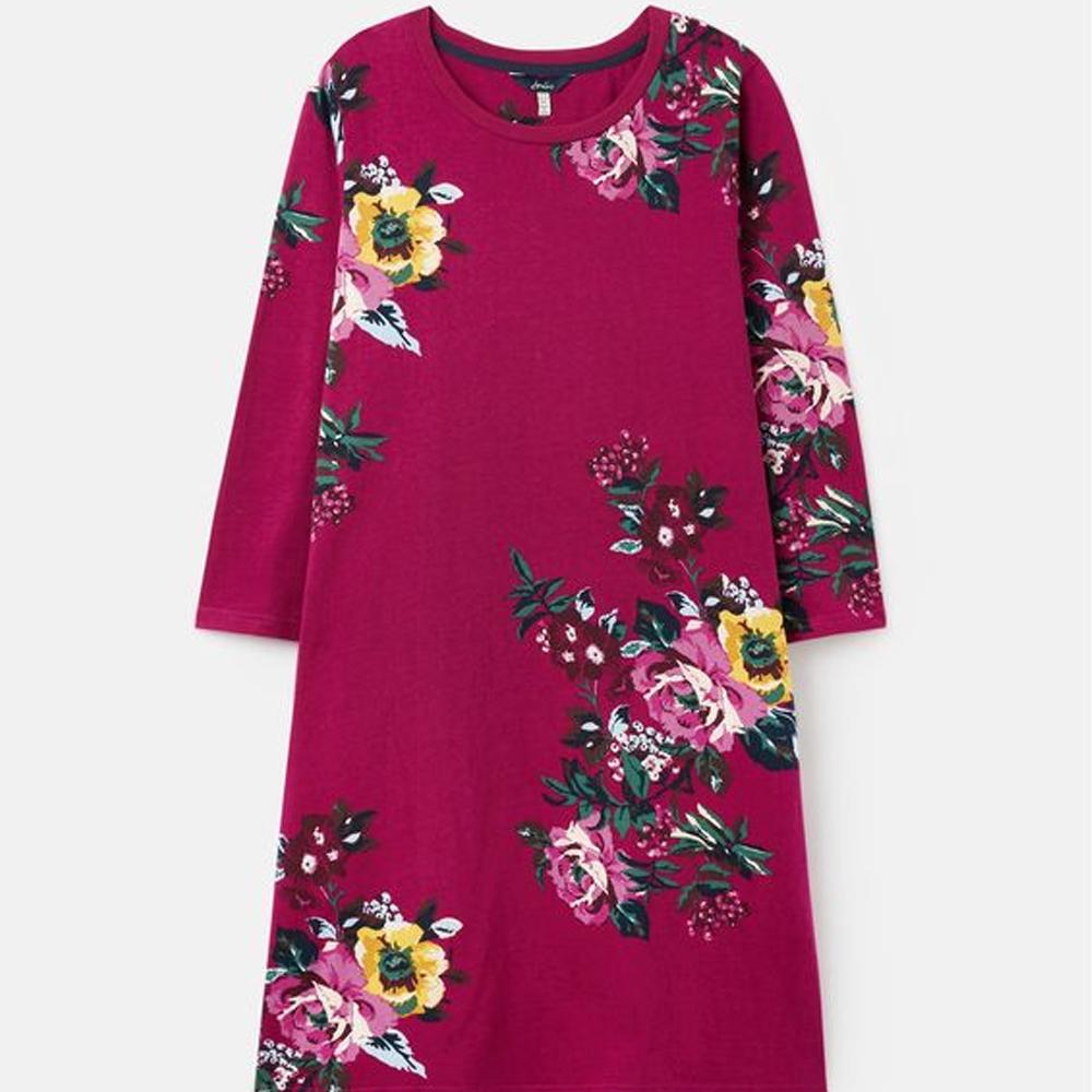Joules Layla Print A Line Jersey Dress