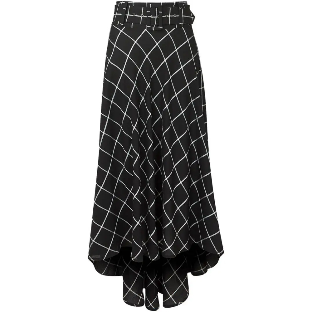 Check It Out Belted Skirt